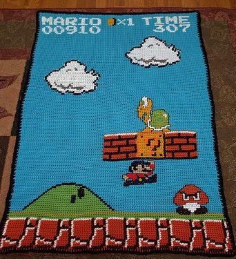 Crochet Super Mario Afghan Pattern