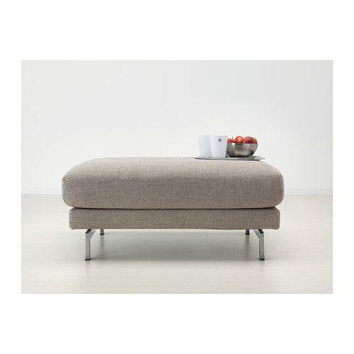 NOCKEBY Repose-pieds - Tenö gris clair, chromé - IKEA