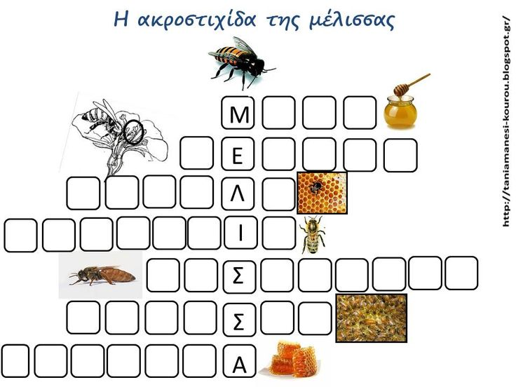 Δραστηριότητες, παιδαγωγικό και εποπτικό υλικό για το Νηπιαγωγείο: Μαθαίνω για την Μέλισσα στο Νηπιαγωγείο: Η Ακροστιχίδα της Μέλισσας
