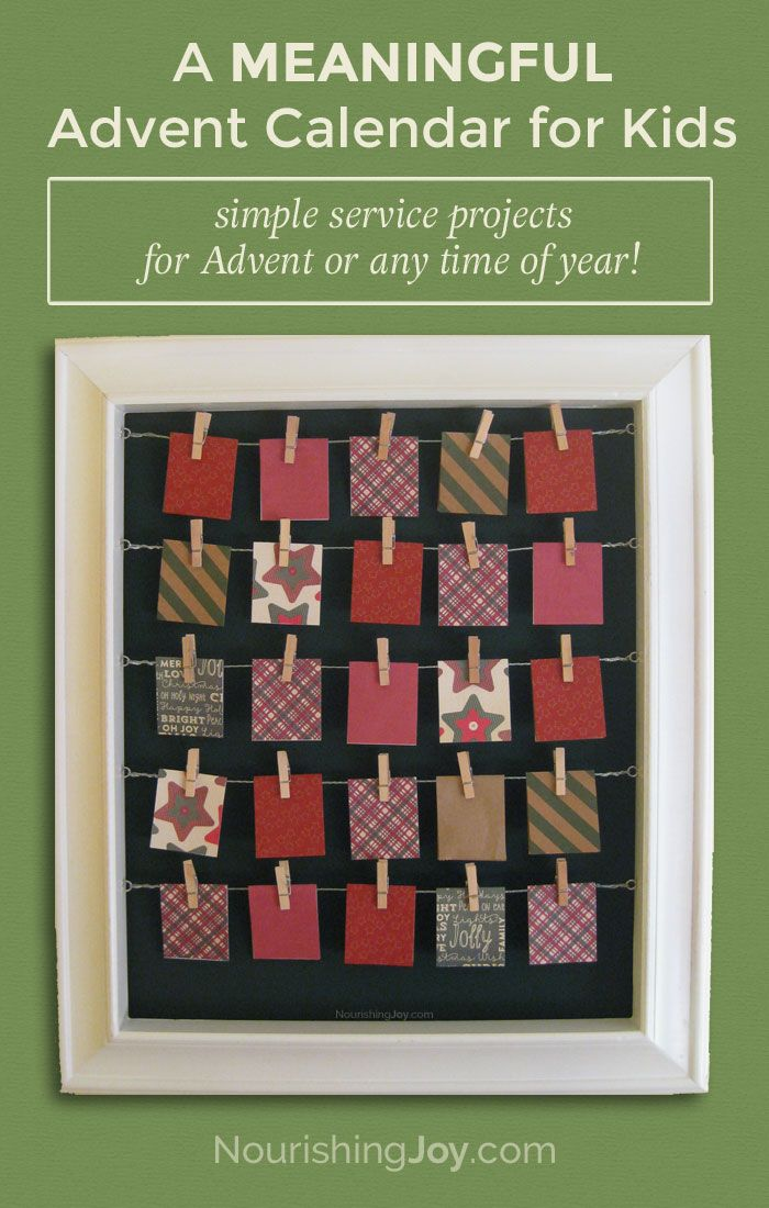A meaningful list of service projects for kids + DIY Advent calendar tutorial that can be used ANY time of year!