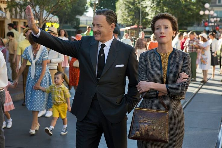 """Tom Hanks and Emma Thompson in the upcoming movie """"Saving Mr. Banks"""" due to release Christmas 2013"""