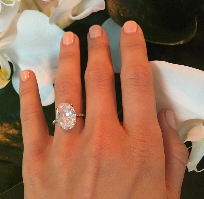 ... jaw-dropping 6 karat Lorraine Schwartz ring with a gorgeous oval solitaire…