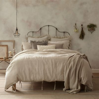 Wamsutta® Vintage Washed Linen Pillow Sham - and duvet cover (and sheets if they make them to sell later) in the darker Raisin color BedBathandBeyond.com