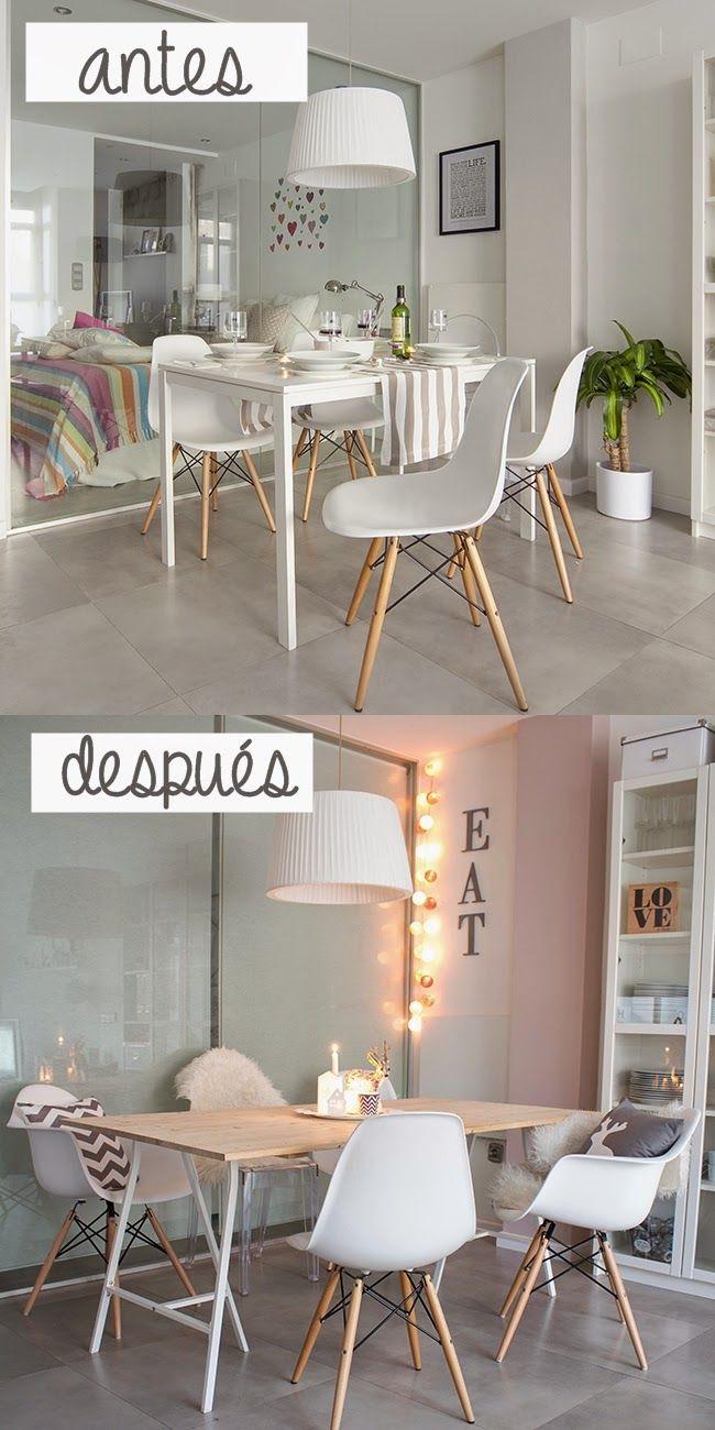 17 mejores ideas sobre mesas de cocina pintadas en for Mi piso antes y despues