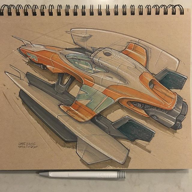 For #sketchwars this week. How about the future F1 racer when there are no more…