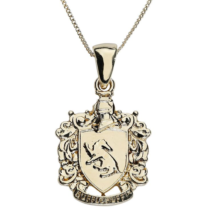 Hufflepuff Crest Charm Necklace - Necklace by Harry Potter