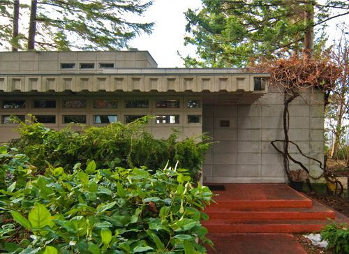 William B. Tracy House. 1956. Normandy Park, Seattle, Washington. Usonian. Frank Lloyd Wright