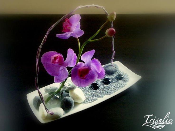 centre de table mariage orchidée