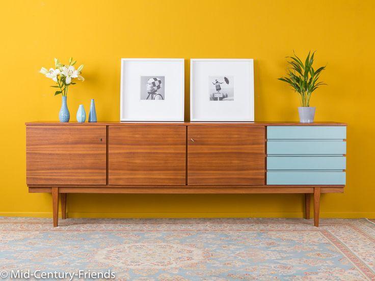Vintage Kommoden - Großes 60er Sideboard, Kommode, 50er, Vintage ...