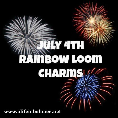 4th of July Rainbow Loom Charm Roundup
