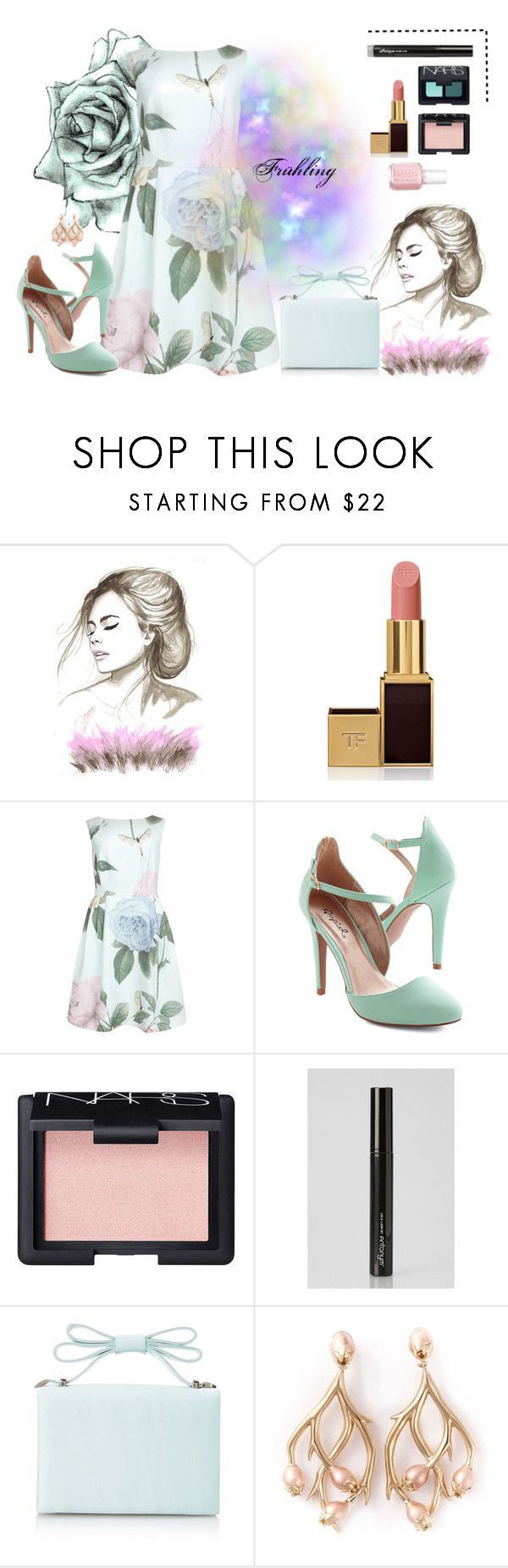 """#70"" by jasi-par ❤ liked on Polyvore featuring Tom Ford, Ted Baker, Essie, NARS Cosmetics, Antonym, Nina and Shaun Leane"
