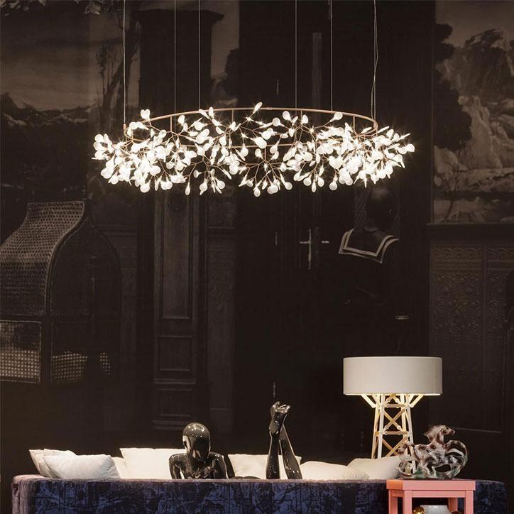 Moooi heracleum plant big o 109 cm 160 cm chandelier led droplight lamp lights