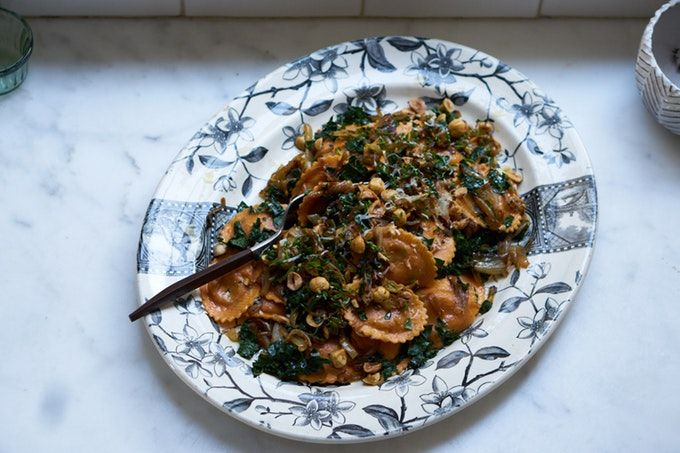 Hazelnut & Chard Ravioli Salad Recipe - 101 Cookbooks