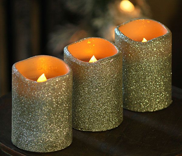 battery operated christmas candles with timer sevenstonesinc - Christmas Decorations Battery Operated Candles