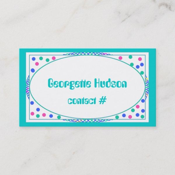 Colorful Polka Dot Calling Card Template Zazzle Com Calling Card Template Calling Cards Cards