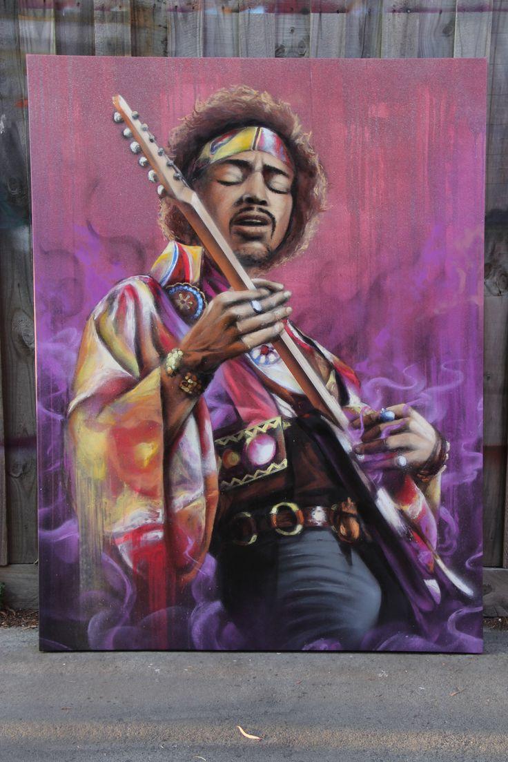 Jimi Hendrix Canvas #Graffiti #Artist #Melbourne #dubiz #custom #made #decor #interiordesign #hangingpieces #fineart #contemporaryart #homefashion #accessories #design #luxuryinteriors #painting #streetart #graffiti #artistic #canvas  #jimihendrix #purplehaze