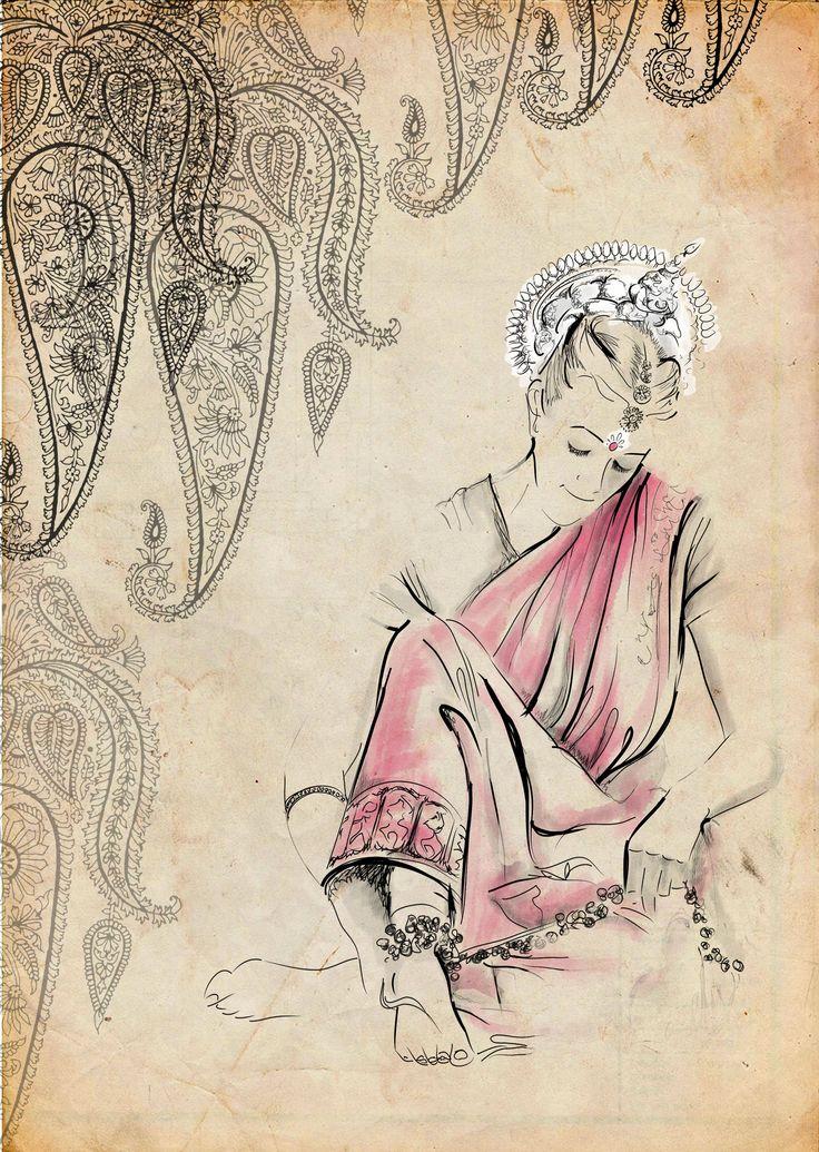 Güngur Arts illustrations  #odissi #indianclassicaldance #woodpaper #illustrations