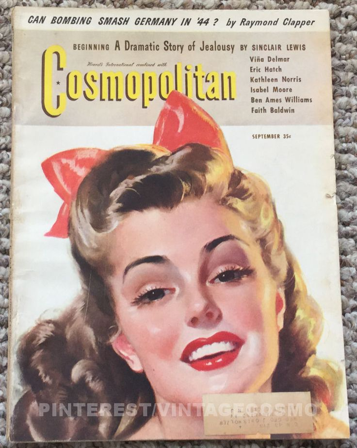 Cosmopolitan magazine, SEPTEMBER 1943 Model: Esther Williams, competitive swimmer & actress Artist: Bradshaw Crandell