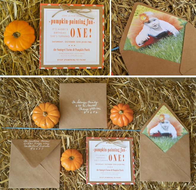 Little Pumpkin Birthday Party- - you could do this for a third... you have an october baby