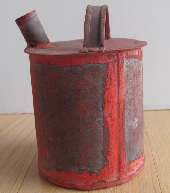 Vintage Crusty Oil Can