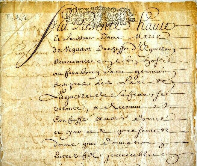 Acte de Fondation ou en rapport avec la fondation Hôtel Dieu de Québec par Marie-Madeleine de Vignerot, dame de Combalet, duchesse d'Aiguillon nièce d'Armand Jean Duplessis Cardinal-Duc de Richelieu