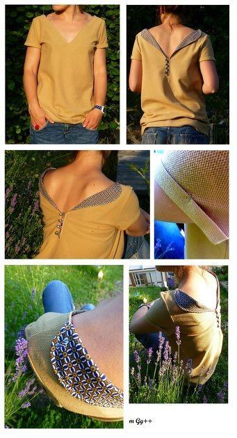 Tee-shirt à boutons dorés par m Gg++ - thread&needles