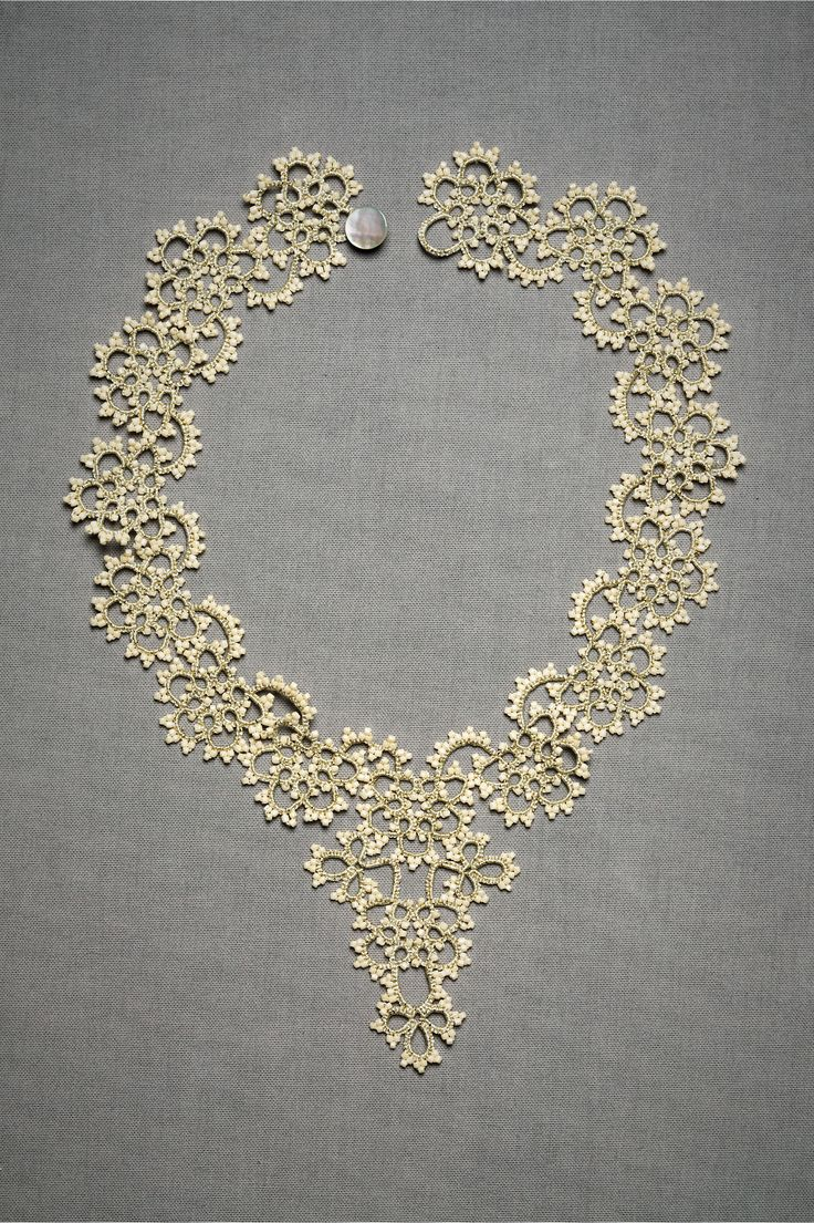 tatted necklace by BHLDN (Anthropologie)