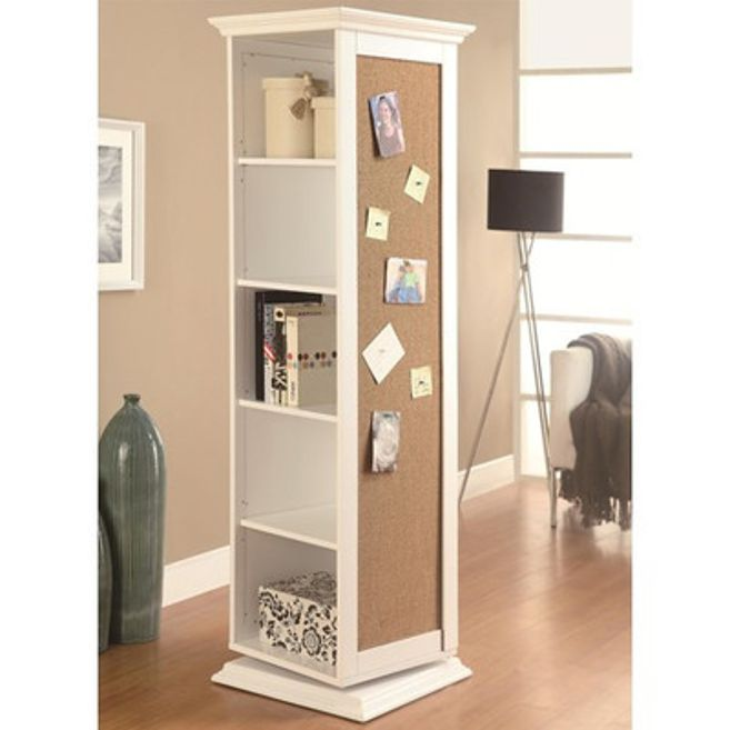 All-In-One Cabinet That Swivels (other 2 sides have full length mirror and coat hooks) - 33 Insanely Clever Things Your Small Apartment Needs