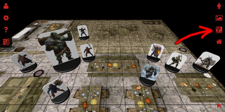 The new button for loading and saving scenarios in 3D Virtual Tabletop.