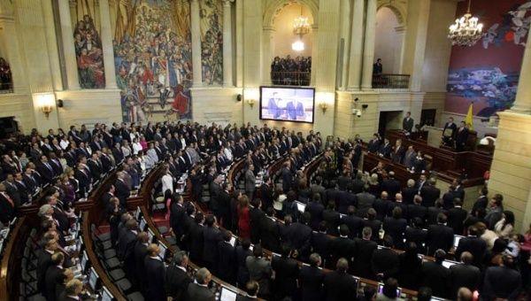 El Congreso de Colombia aprobó el plebiscito por la paz.   Foto: EFE Archivo