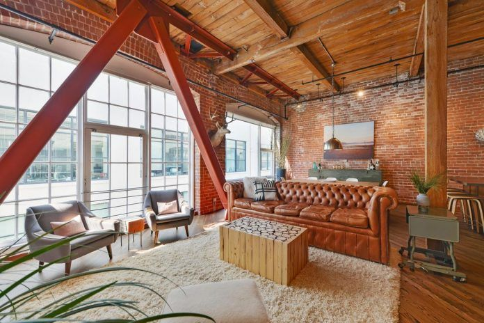 Brick loft situated in San Francisco designed by Melissa Winn Interiors - CAANdesign   Architecture and home design blog