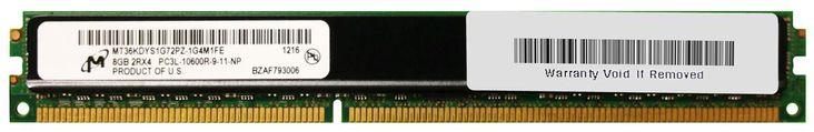 Micron 8GB PC3-10600 DDR3-1333MHz ECC Registered CL9 240-Pin DIMM 1.35V Low Voltage Very Low Profile (VLP) Dual Rank Memory Module Mfr P/N MT36KDYS1G72PZ-1G4M1
