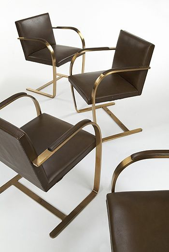 822: Ludwig Mies van der Rohe / Brno chairs, set of ten < Circa 70, 6 December 2005 < Auctions | Wright