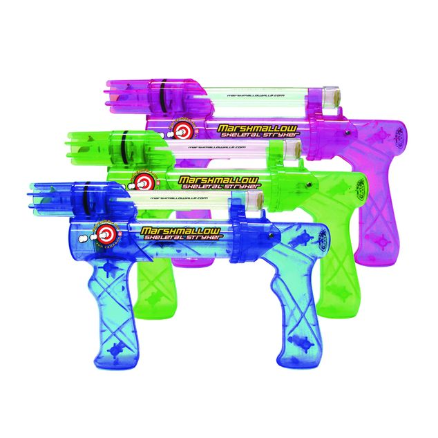 Pistolets à guimauves - lance des mini-guimauves jusqu'à 6 mètres @fUNiqUe.ca Marschmallow blasters, shoot mini marschmallows up to 18 feet
