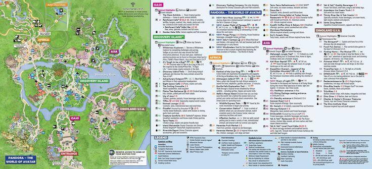 Disney's Animal Kingdom map Theme Park map