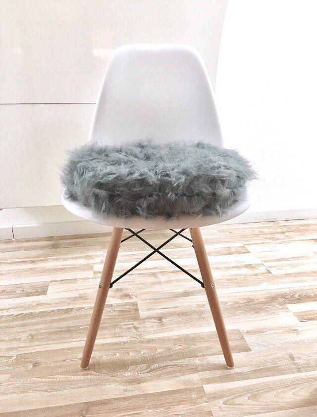 Sitzkissen Eames - grau - dunkelgrau - Fellstoff - Plüsch - Stoff - wohnzimmer grau magenta