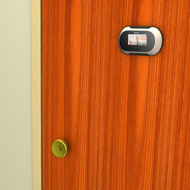 The Brinno PeepHole Viewer uses an LCD panel to display who is at your door without alerting them to your presence.