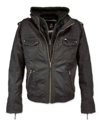 BRANDIT BLACK ROCK Leather Jacket Herren Leder Jacke Bewertungen « Ledertaschen Herren