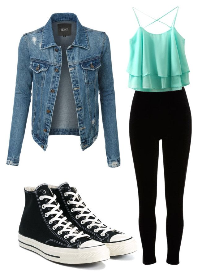 """primavera 2"" by cami-aedo-monsalves on Polyvore featuring LE3NO, River Island and Converse #camisoutfit"