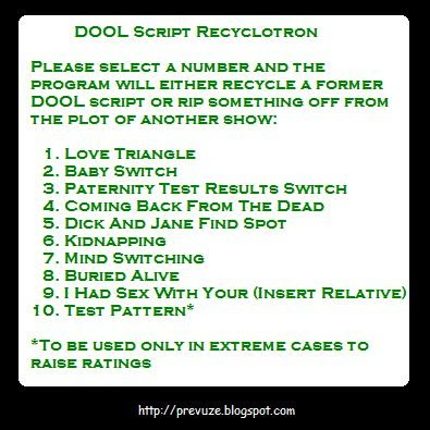 Do you ever wonder how they come up with those lame recycled scripts?