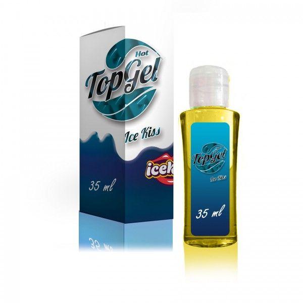 Top Gel Icekiss Hot - Top Gel Hot Térmico Sabor cerejaDeliciosa sensação HotEsquenta, proporciona muito mais prazer durante o sexo oral.