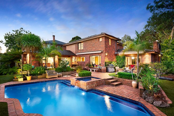 Wheelers Hill, Victoria, Australia. Gorgeous brick home with spa and pool.  Barry Plant Glen Waverley