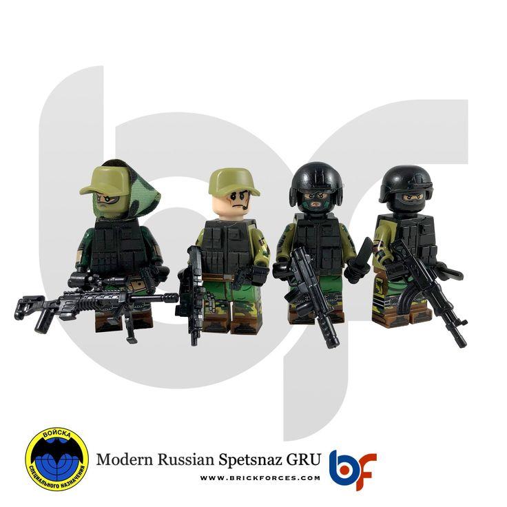Brick Minifigure Modern Russian Spetsnaz GRU Team
