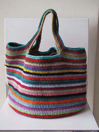 The Lucy bag pattern from Attic 24. I like the handles on this one. | crochet tutorials bags & covers | Pinterest | Attic 24 and Attic