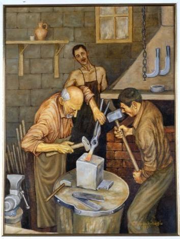 Demirci ve Oğulları  Bir inanışa göre demirciliği insanlığa Hz. Davut öğretmiştir. Bundan dolayı Haz.Davut demircilerin koruyucusu olarak bilinir.