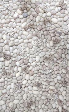 Blooming Ice Runner Rug - contemporary - Rugs - Artajul Rugs