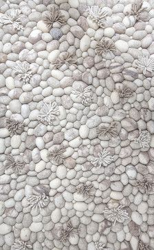 Blooming Ice Runner Rug contemporary-rugs