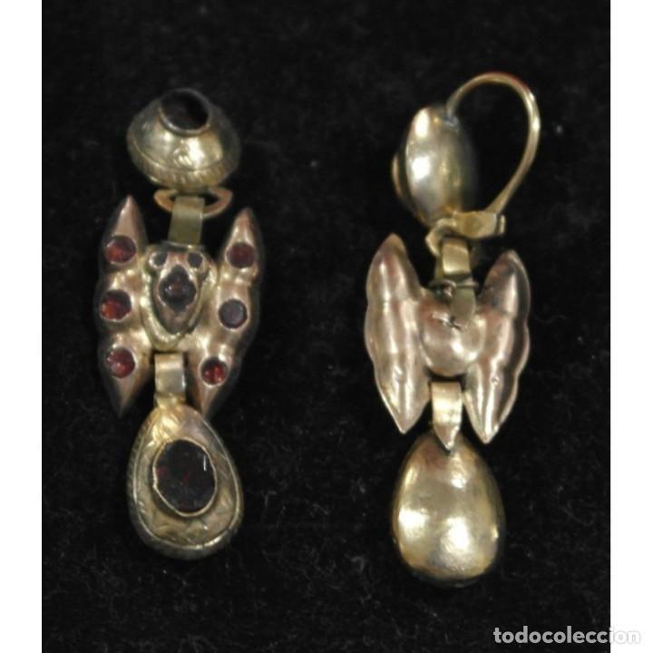Antigüedades: Pendientes antiguos tradicionales. Aragón. Cataluña. Indumentaria tradicional. Pendientes mariposa - Foto 2 - 66257778