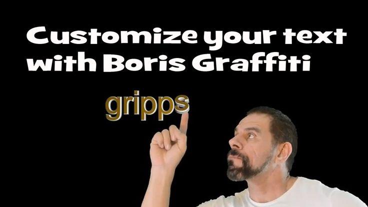 Boris Graffiti 6.1, customize single letters in text - YouTube