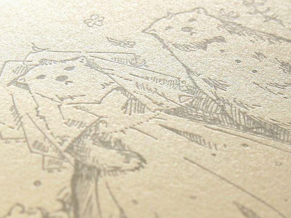 手描きイラストを添えて(お客様のデザイン) 結婚式招待状・席次表 ウイングド・ウィールオンラインストア